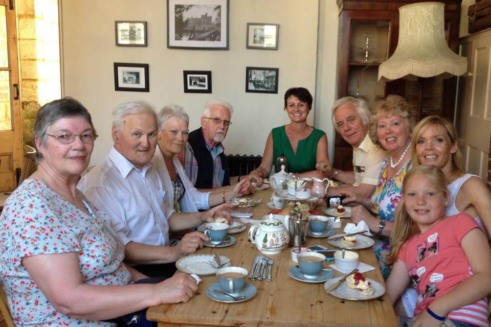 A meeting over tea ion the Tea Room
