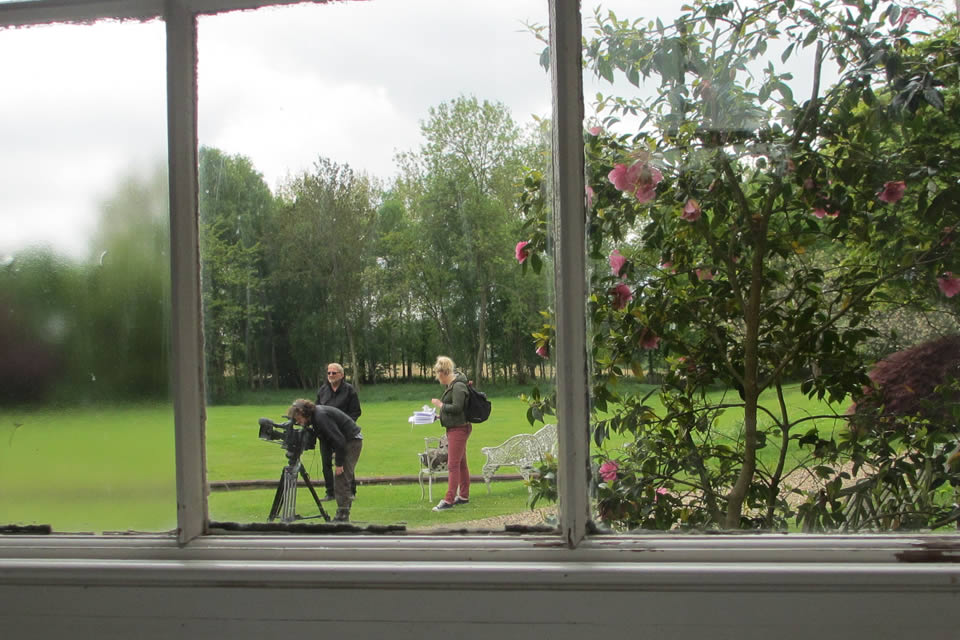 Filming from the lawn
