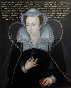 Mary Queen of Scots in the style of Hilliard
