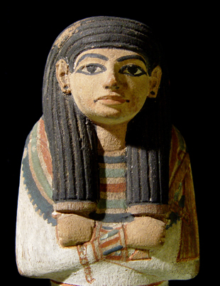 Wooden painted Shabti of Tamit