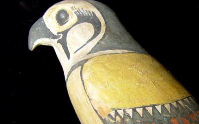 Figure of a Sokar falcon
