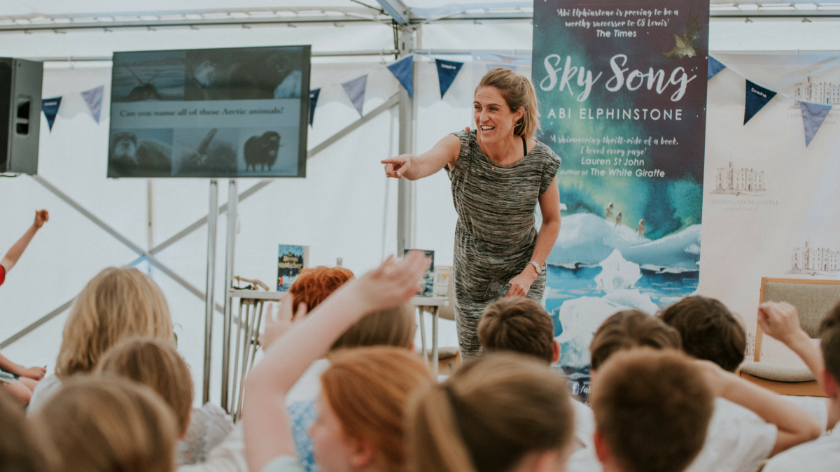 Abi Elphinstone at Chiddingstone Castle Literary Festival 2018