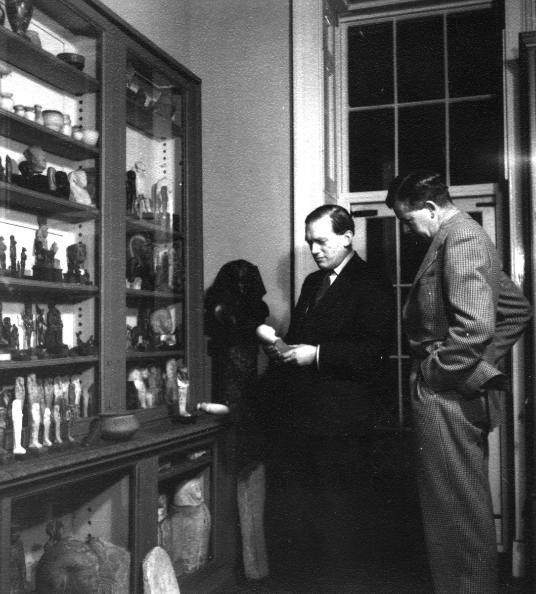 Bower at his antiques shop